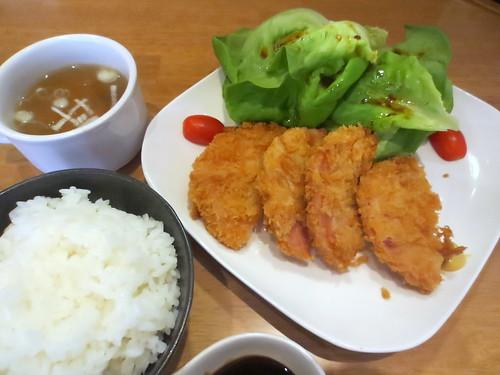 ハムかつ定食@ホットポットキッチン(江古田)