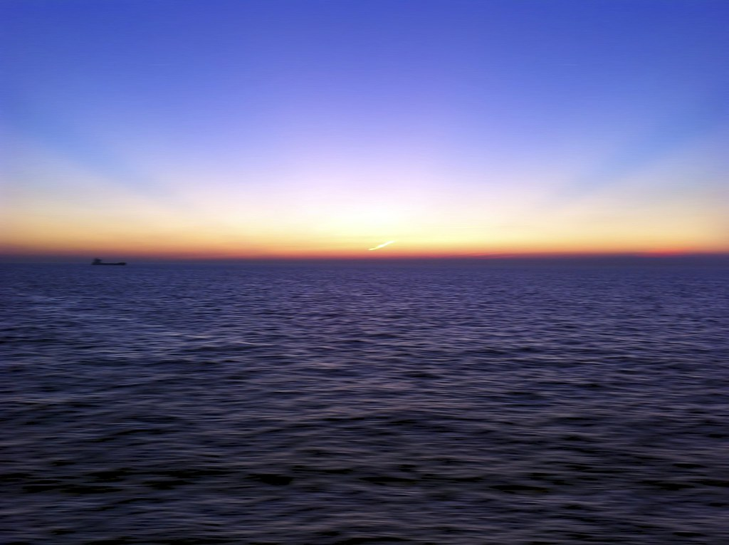Sunset Across The English Channel