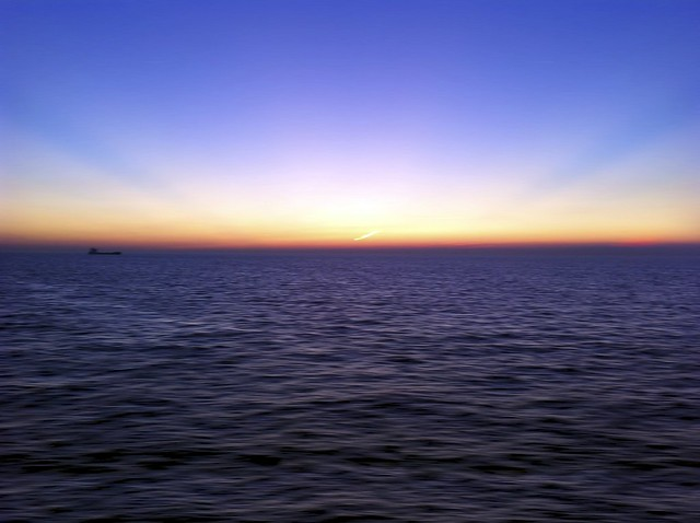 Photo:Sunset Across The English Channel By:A Guy Taking Pictures