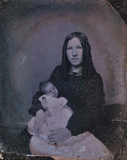 """This is my little darling,"" Ruby Ambrotype, Circa 1862"
