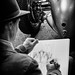 An Artist drawing one of the Silver Arrows by Alan Frost Photography