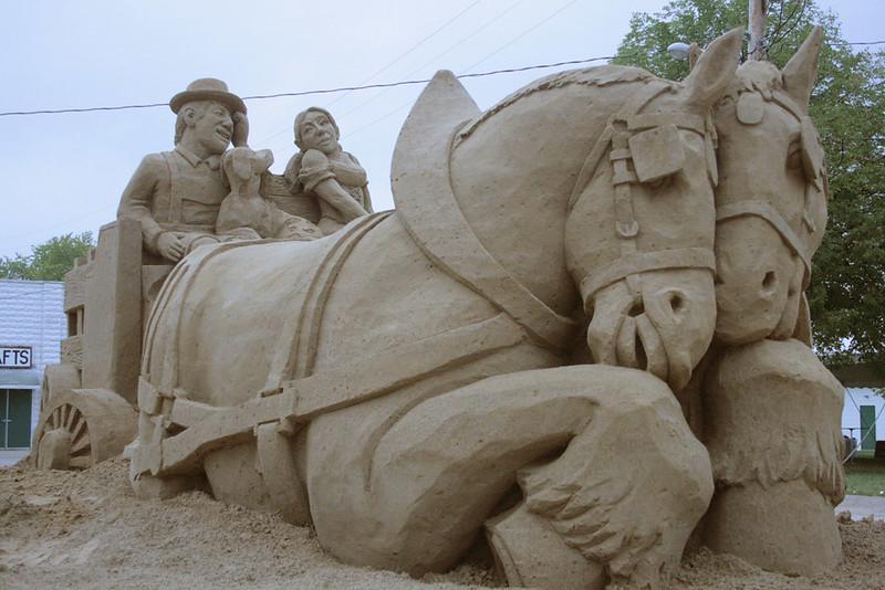 Oktoberfest sand sculpture