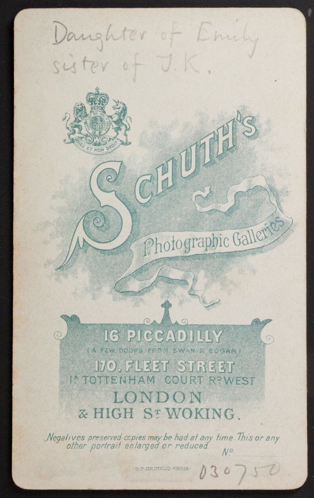 Whatsthatpicture Reverse Of Carte De Visite By Schuth Early 1900s