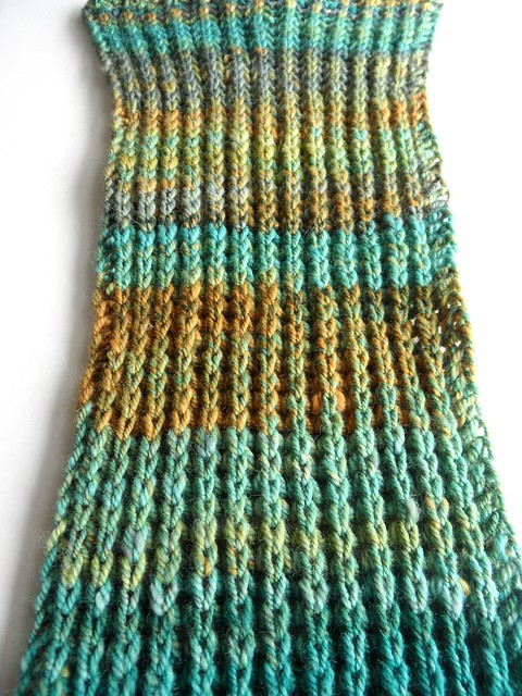 FCK-Quackenbush scarf-6x130 inches-Polwarth-hand carded chain plied II