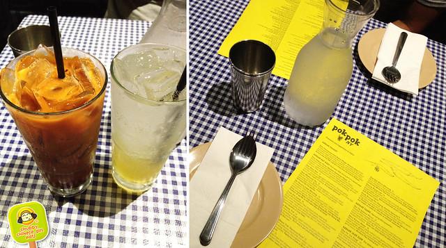 pok pok ny - vinegar drink and thai ice tea