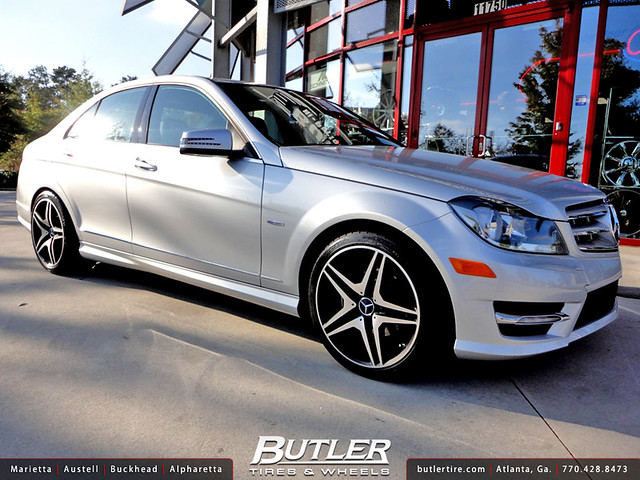 Mercedes c250 with 18in mb8 wheels flickr photo sharing for Mercedes benz tires c250