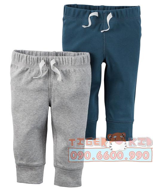 Quần áo trẻ em, bodysuit, Carter, đầm bé gái cao cấp, quần áo trẻ em nhập khẩu, Set 2 quần bé trai Carter's nhập Mỹ 6M-24M