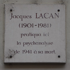 Photo of Jacques Lacan white plaque