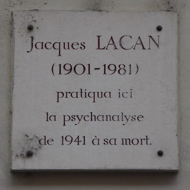 Photo of Jacques Lacan white plaque