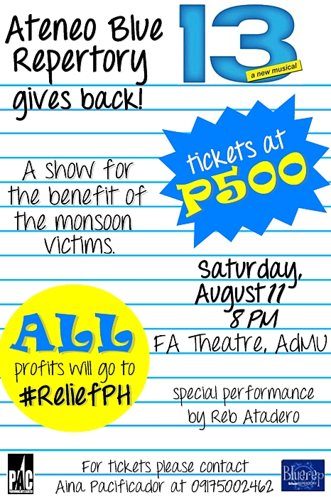 bluerep gives back poster