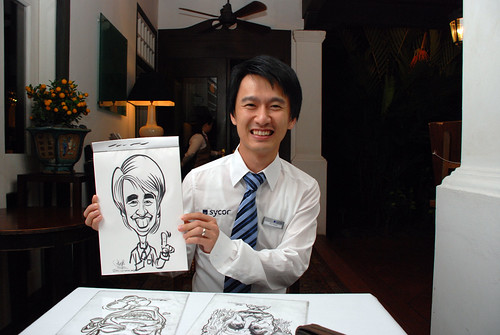Caricature live sketching for Sycor 10th Anniversary Dinner -3