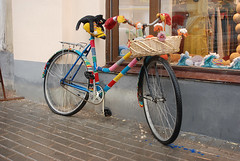 """Knitted"" Bicycle on Pokrovka street"