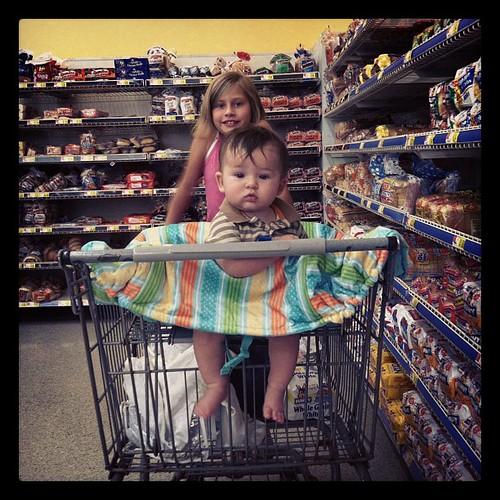 Wal-Mart shopping with the big boy and the soon to be birthday girl! #gAwdwalmartmakesmewannastabmyeyeballsout #Wal-Mart #shopping #baby #cord #hannah  #enjoyinhthesmallthings