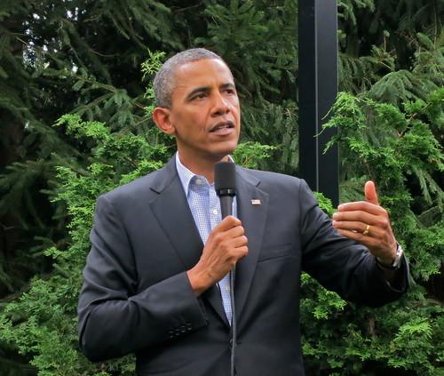 Barack Obama at his Chicago Home