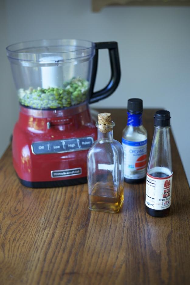 edamame and ingredients