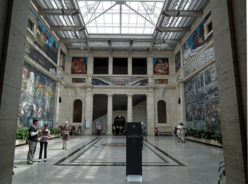 "Diego Rivera's mural ""Detroit Industry"" at Detroit Institute of Arts (Detroit. 2012)"