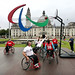 Giant Paralympic Agitos launch, Cardiff