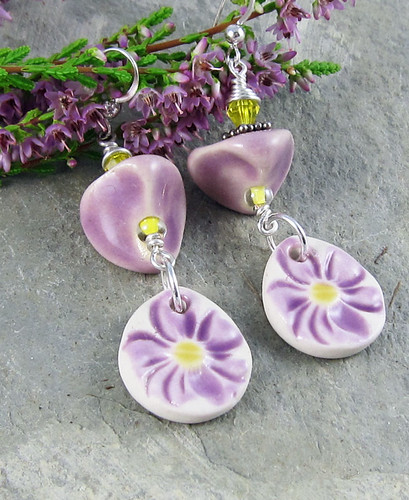 Lilac Flower earrings 2