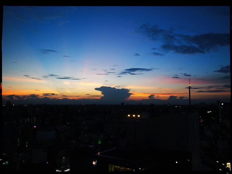 shibuya sunset