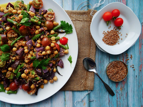 late summer farro salad