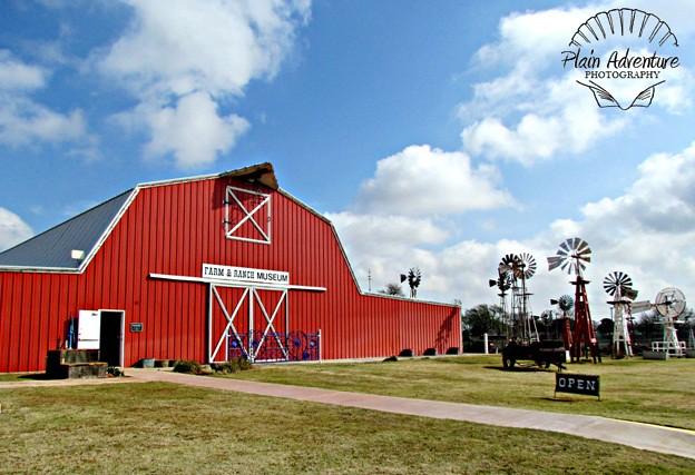 barn and windmills