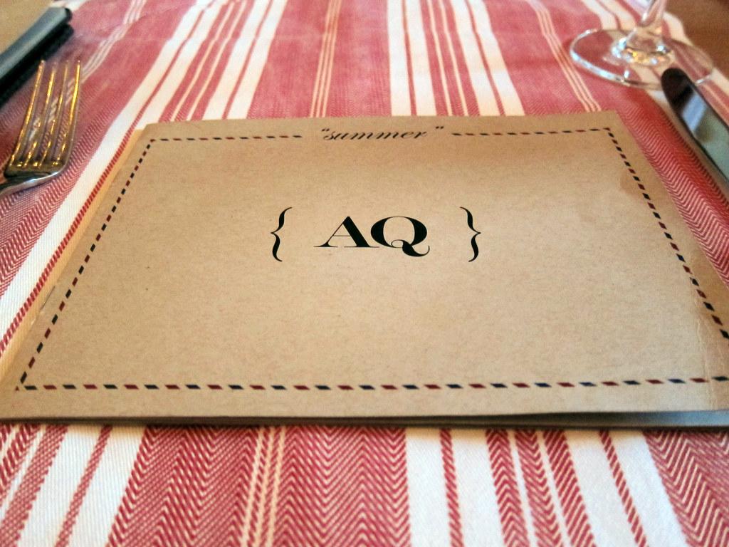 AQ menu