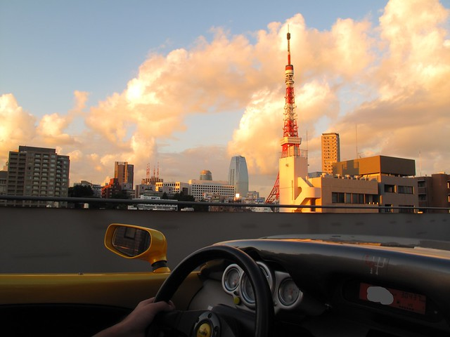 Spider sunset drive 東京タワー