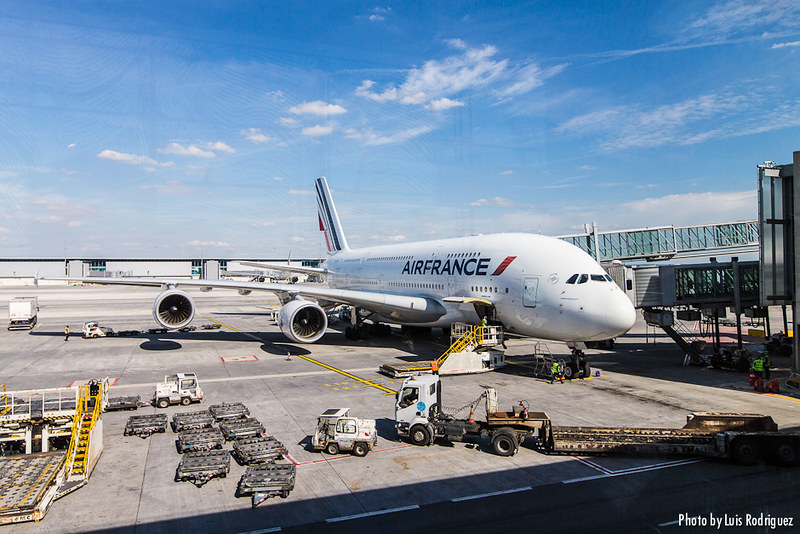A380 Air France en un París-Tokio