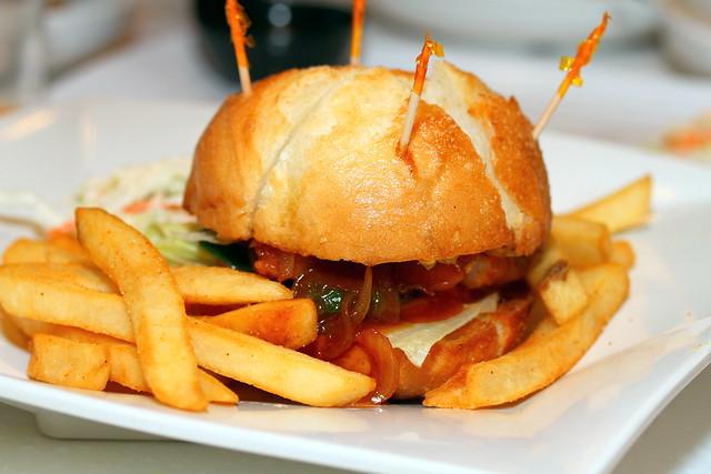 C-Jade HK Café IN: Crispy Macau Pork Chop Bun