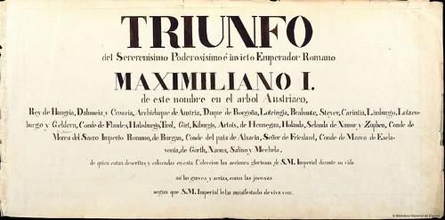 000-Triunfo del Emperador Maximiliano I…1700-Copyright Biblioteca Nacional de España