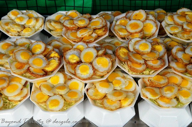 fried quail egg