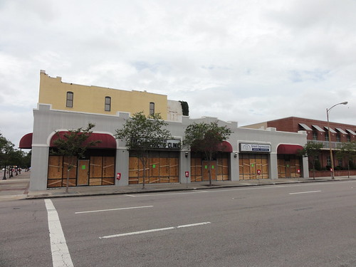 Boarded windows in Tampa
