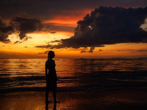 sunset silhouette, Ko Lanta