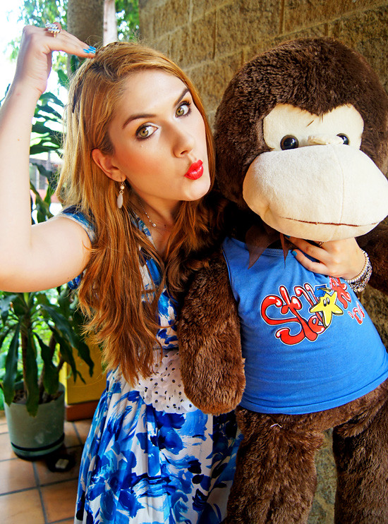 Floral dress and Monkey by The Joy of Fashion (12)