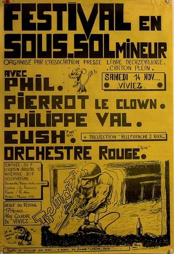 affiche festival sous-sol mineur
