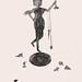 19.鑄鐵女孩37X52 cm‧紙凹版collagraphs‧版數1-10‧2012