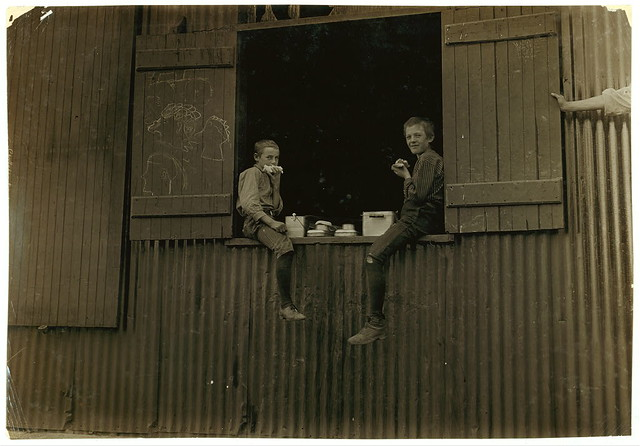 Lunch Time, Economy Glass Works, Morgantown, W. Va. Plenty more like this, inside.  (LOC)