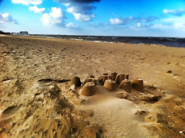 Lonely sandcastle