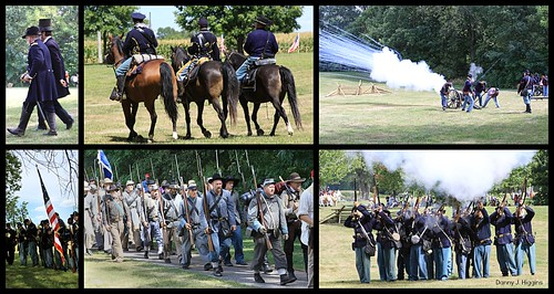 Civil War Reenactors At Galesburg Heritage Days, Galesburg, Illinois.