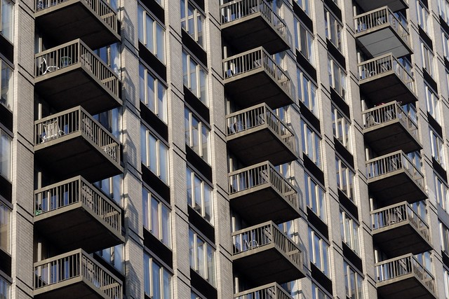 Balconies of a new york city building flickr photo for Balcony new york