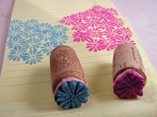 Stamp carving small flower (3)
