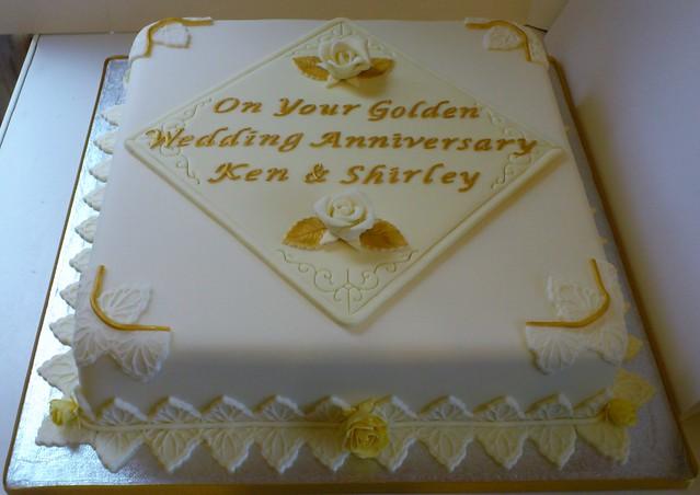 Wedding Anniversary Gifts 1-100 : Golden Wedding Anniversary Cake Explore LizzieQ Creations ...