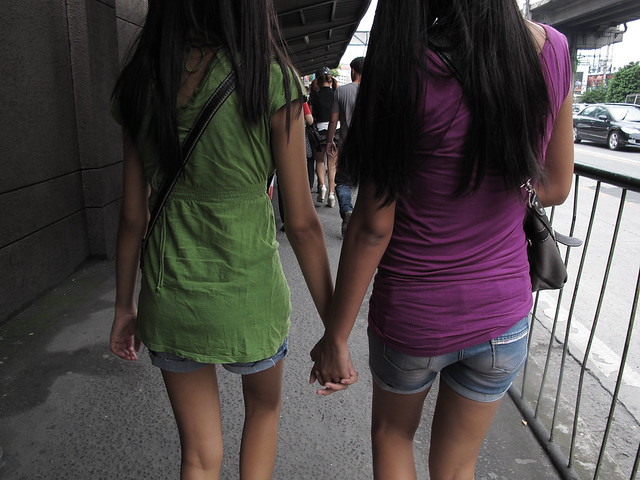 two girls holding hands 061712