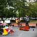 Music time at the farmer's market
