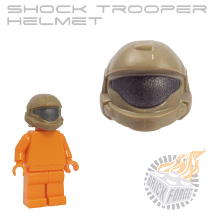 Shock Trooper Helmet - Dark Tan (steel visor print)
