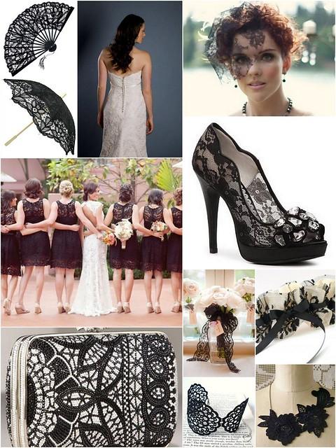 Black Lace Bridal Style Inspiration
