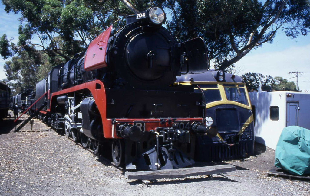 Victorian Steam R704 Williamstown 30.01.2000 by Andy Cole