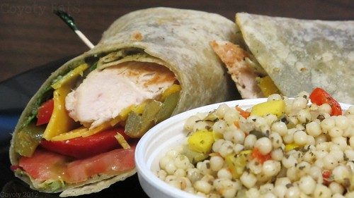 Chicken pesto wrap and cous cous by Coyoty