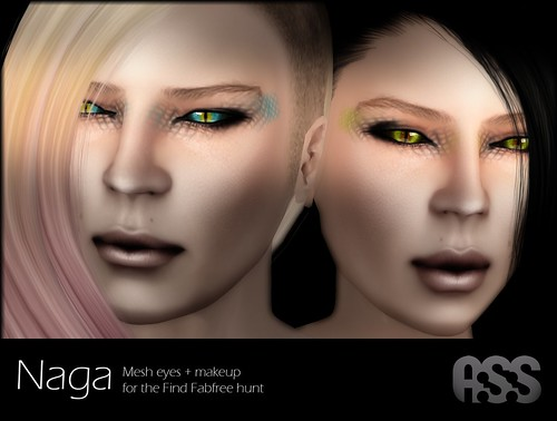 A:S:S Naga eyes and makup. for the Finding Fabfree hunt by Photos Nikolaidis