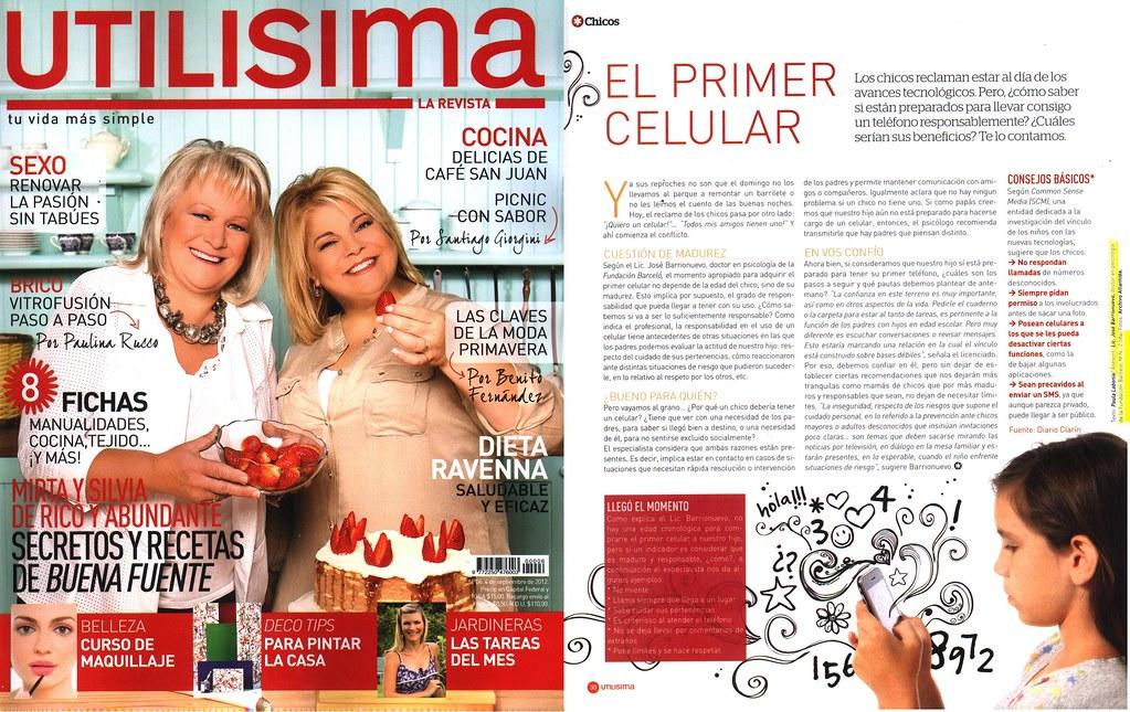 Revista Utilisima - El primer celular - Septiembre 2012